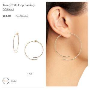 NWT Gorjana Taner Coil Hoop Earrings